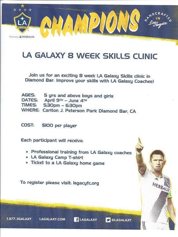 Youth Soccer Skills Clinic with LA Galaxy Coaches | Diamond