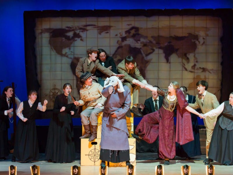Abbey Players Present Jules Vernes Around The World In