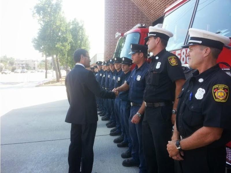 Sherman Oaks Firefighter Nominates LAFD for Department of Defense