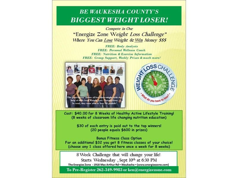 Fall Weight Loss Challenge at The Energize Zone | Waukesha