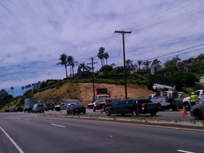 UPDATE: One Westbound Lane Closed on PCH at Latigo Canyon Road