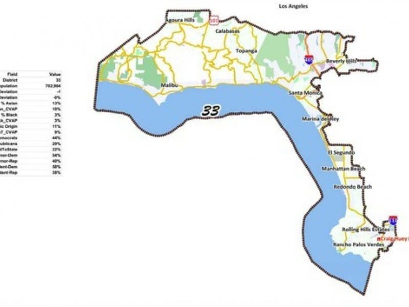 Where Calabasas Voters Will Be In Final State Redistricting Map