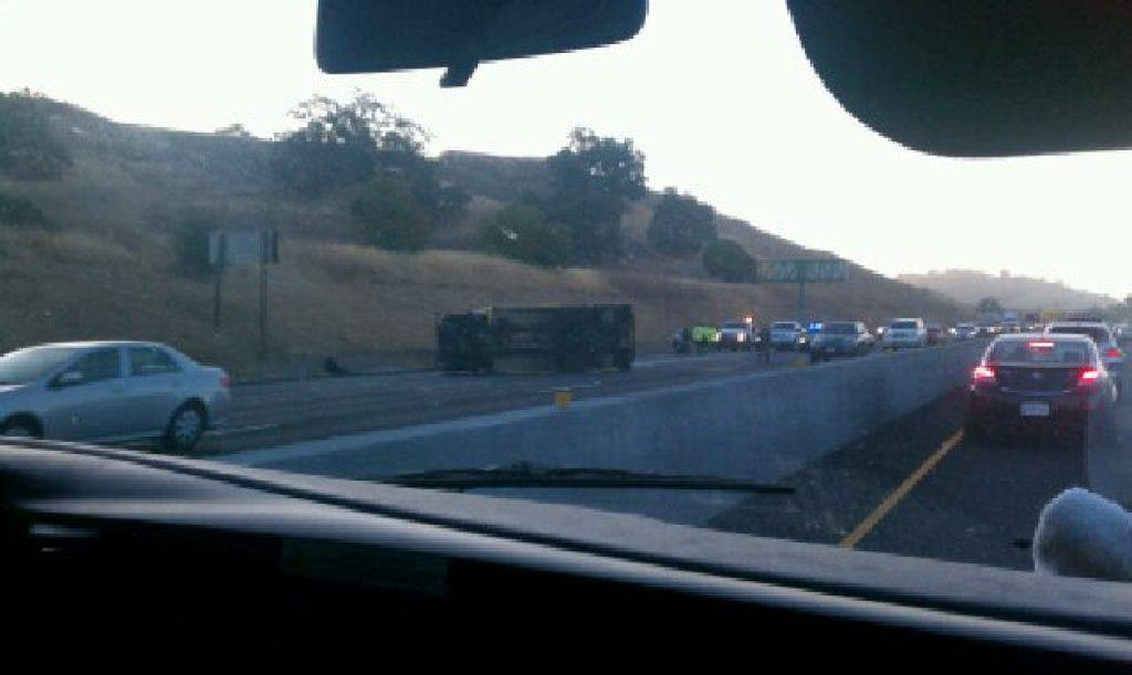 Update: Ice Cream Truck Accident on I-680 Slows Traffic