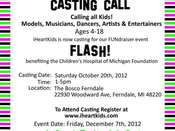 Casting Call: FLASH!   Grosse Pointe, MI Patch