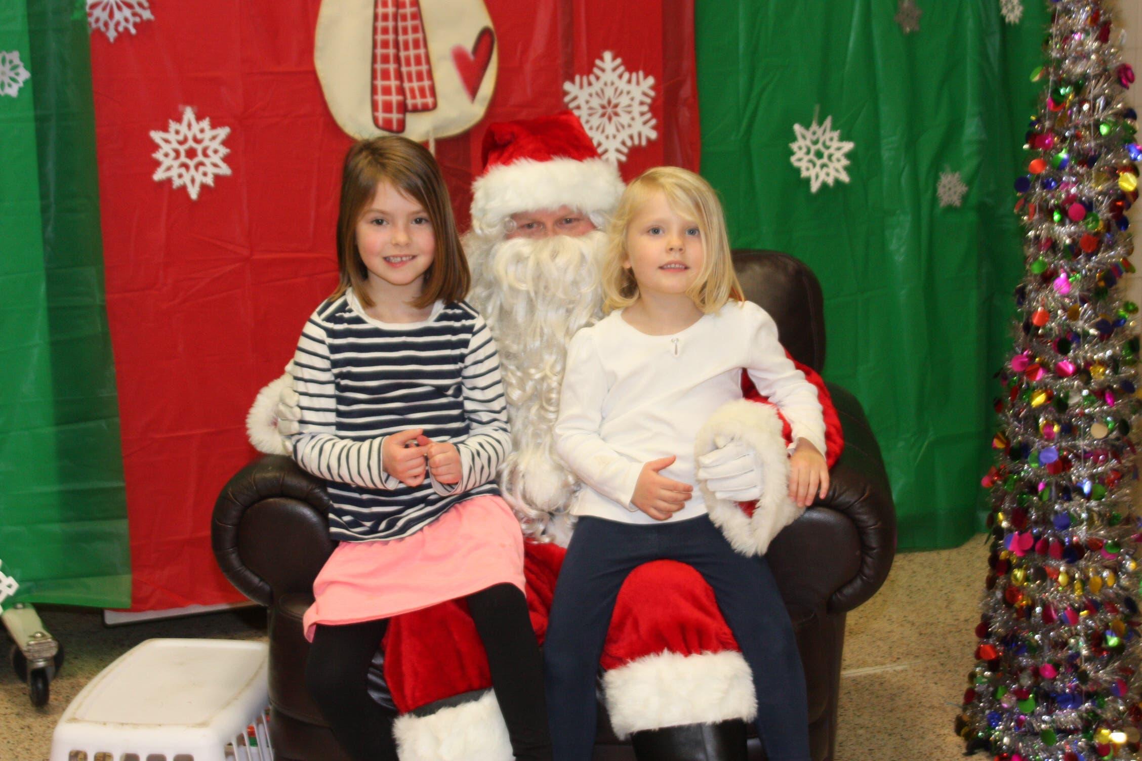 Santa Visits Pinewood Elementary   Towson, MD Patch