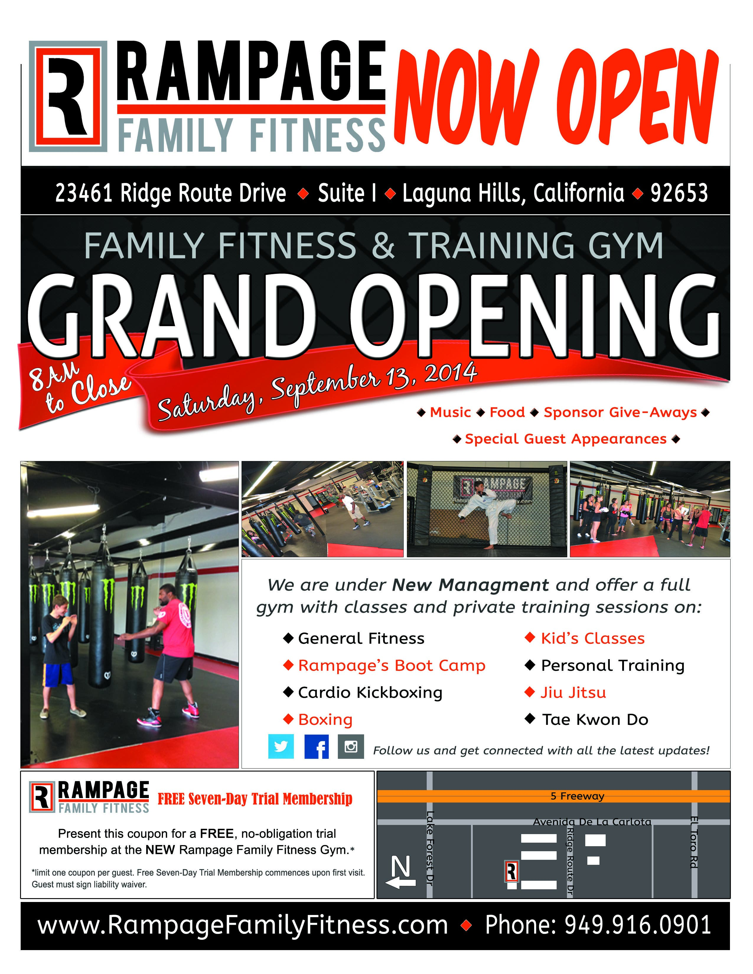 Grand Opening Event & Ribbon Cutting - Rampage Family