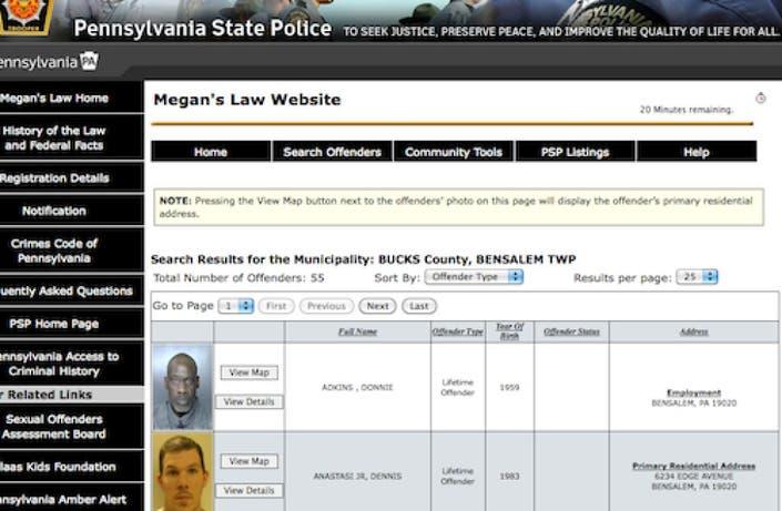 megans law website nj registered sex offenders in Knoxville