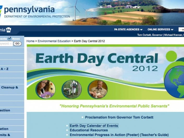 U S Department Of Education Launches New Idea Website >> Dep Launches New Earth Day Webpage Bensalem Pa Patch