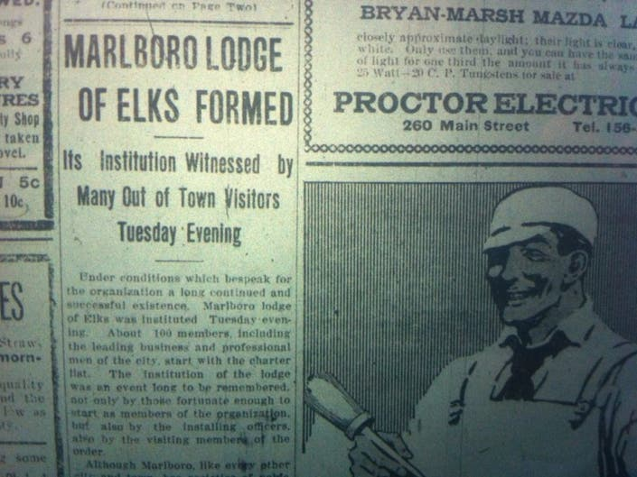 100 Years Ago: The Marlborough Lodge of Elks is Formed