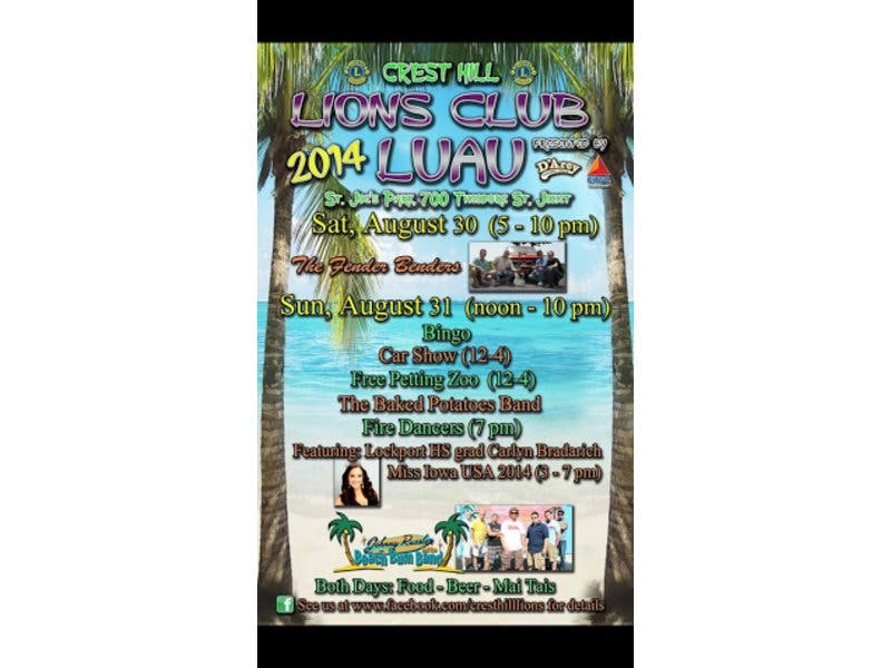Crest Hill Lions Club Luau Set For Saturday & Sunday at St