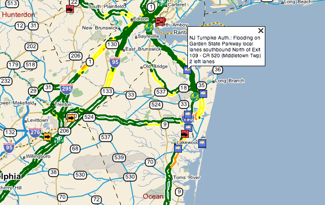 Garden State Parkway Flooding Reported | Middletown, NJ Patch on bronx river parkway map, interstate 95 map, long island motor parkway map, hutchinson river parkway map, george washington memorial parkway map, new york state route 17, new york state thruway, henry hudson parkway map, merritt parkway map, taconic state parkway map, cross county parkway map, tappan zee bridge, new jersey turnpike, palisades interstate parkway, palisades interstate parkway map, driscoll bridge, nj map, belt parkway map, new york thruway map, atlantic city, mosholu parkway map, interstate 78 in new jersey, i-95 map, southern state parkway map, cross island parkway map, atlantic city expressway, outerbridge crossing, northern state parkway map, saw mill river parkway map, interstate 95 in new jersey,