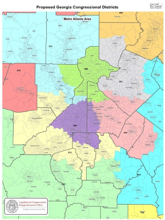 Map Of Georgia Voting Districts.Redistricting Removes Westmoreland From Douglas County