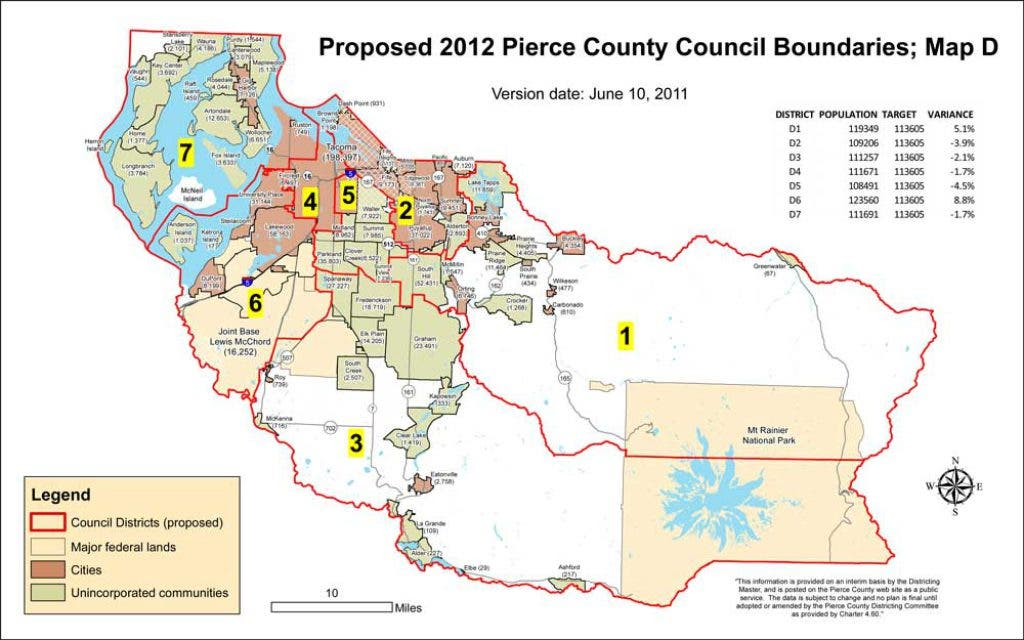 Picture of: Pierce County Council District Boundaries Could Be Done Deal University Place Wa Patch