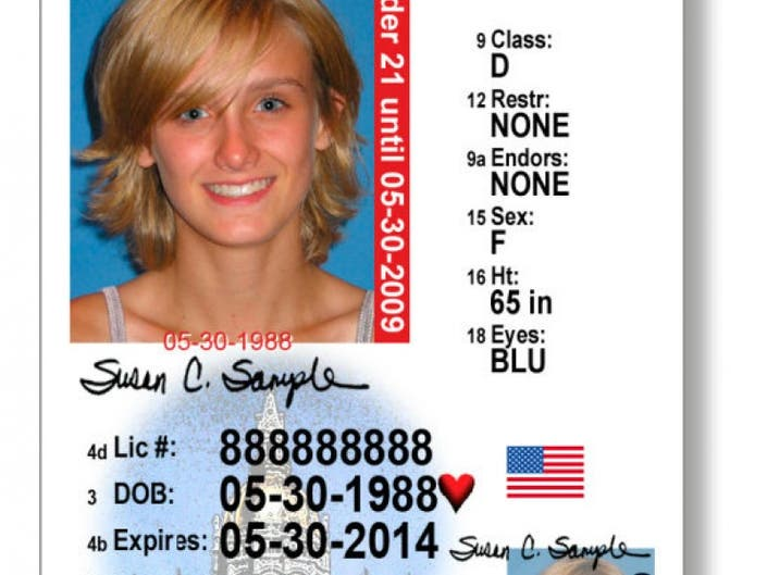 over 18 drivers license ct