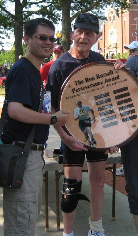 Bruce Miller Receives Ron Russell Perseverance Award: Pic of