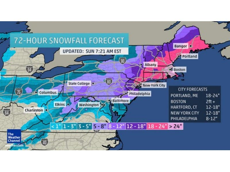 WEATHER ALERT: 'Major' Two-Day Snowstorm, Nor'easter To Strike Pa