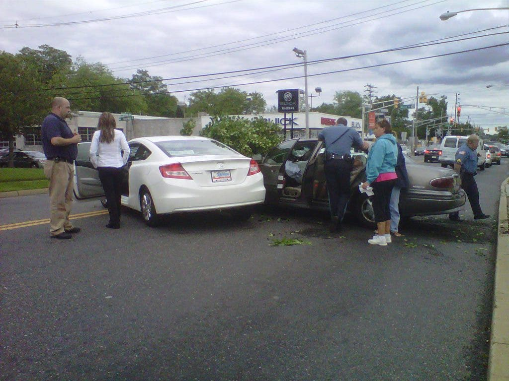 Driver Hops Curb, Hits Car in Front of Red Bank Foodtown | Little