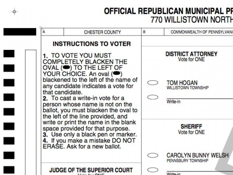See a sample ballot for tuesday's primary | phoenixville, pa patch.