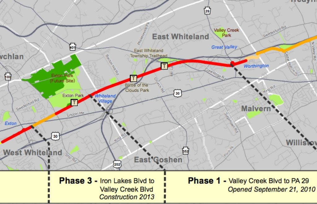 Phase 3 is a Go: West Whiteland Approves Chester Valley Trail ... on