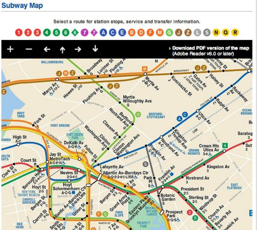 Fort Greene Subway Map.Mta Brings Subway Map Into Smartphone Age Bed Stuy Ny Patch