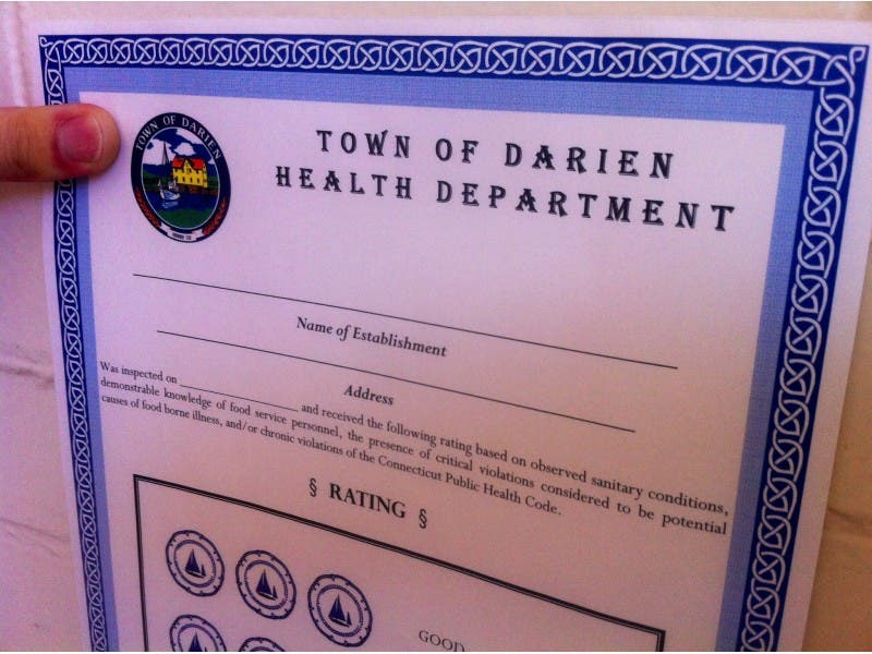 Darien Restaurant Inspection Reports One Poor Fair Four Good