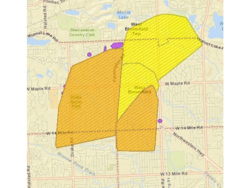West Bloomfield Power Outage Affects Portion Of Farmington