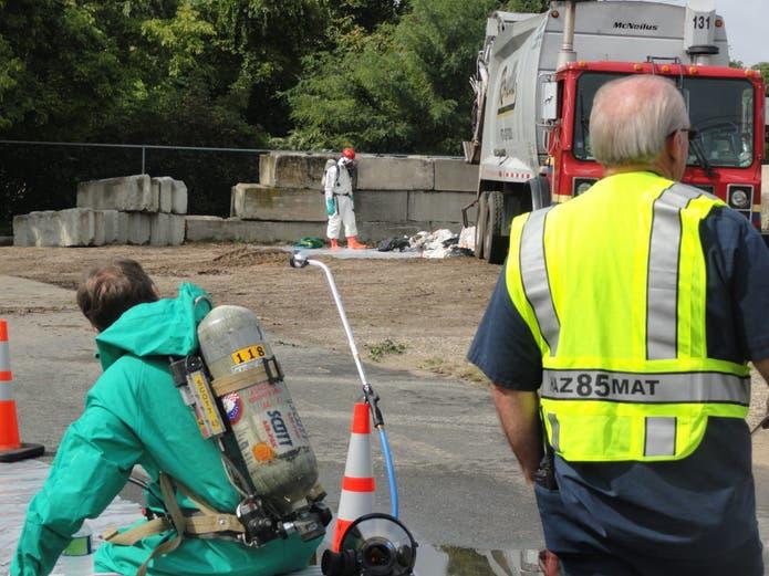 Hazmat Investigation at Point Boro Recycling Center ...