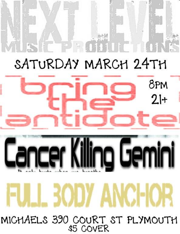 BRING THE ANTIDOTE W/ CANCER KILLING GEMINI,AND FULL BODY