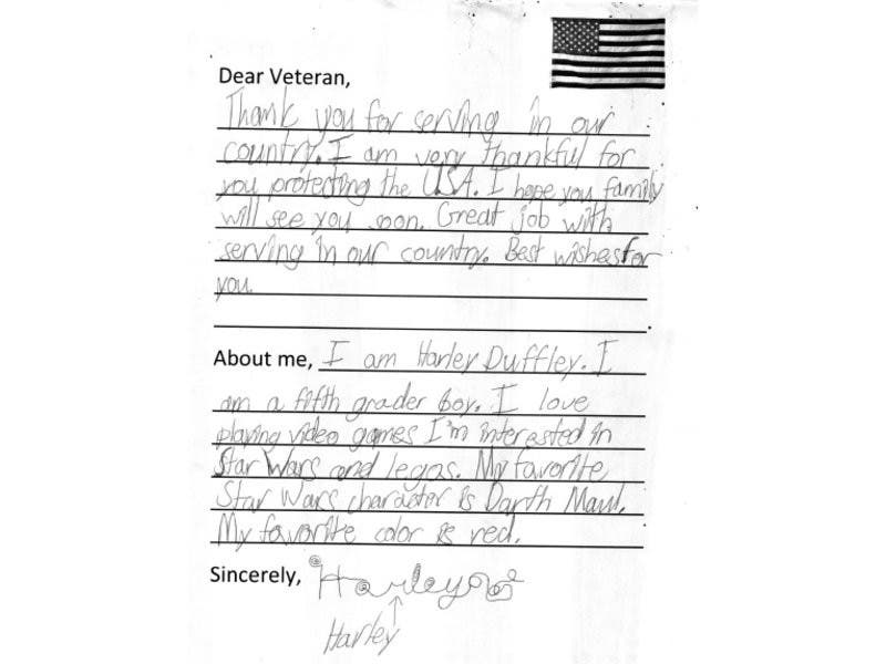 Write letters to military