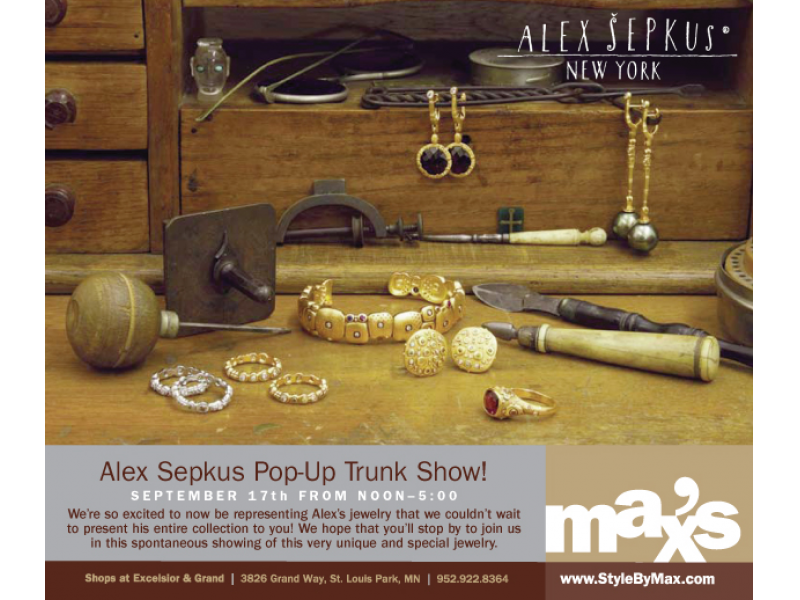 Alex Sepkus Pop Up Trunk Show At Max S