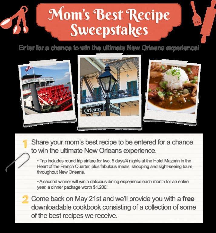 Enter Mom S Best Recipe Sweepstakes Woodbridge Nj Patch