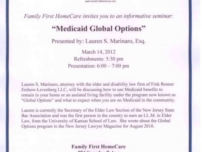 Family First HomeCare to Host Free Seminar: