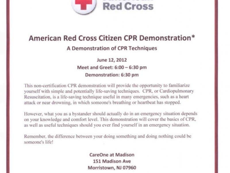 Family First Homecare To Co Sponsor Citizen Cpr Demonstration