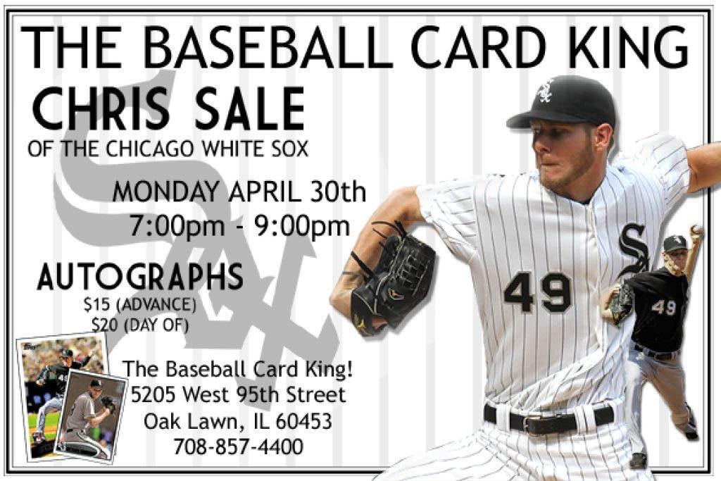 White Sox Starting Pitcher Chris Sale Signing Oak Lawn