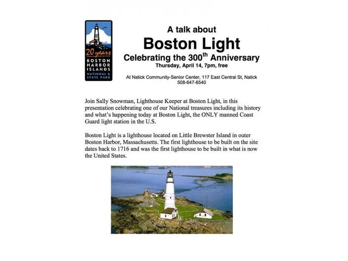 A talk about Boston Light Celebrating the 300th Anniversary