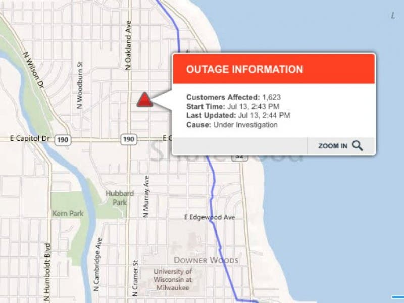 Brief Downpour Causes Power Outage In Shorewood Friday Afternoon