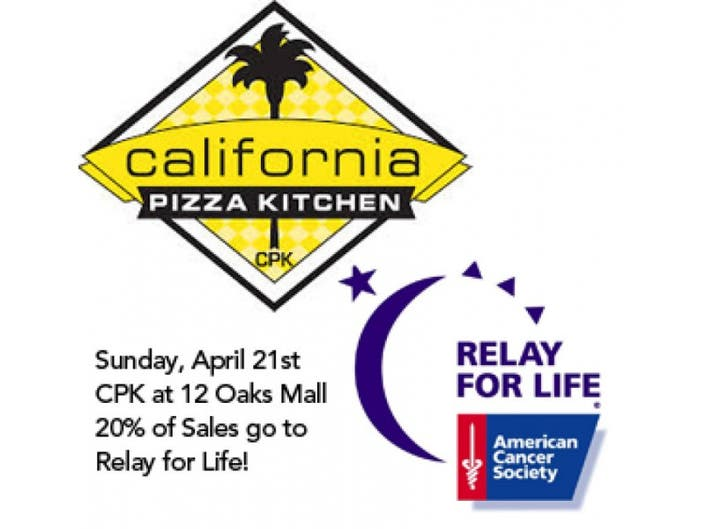 Dine For A Cause At 12 Oaks California Pizza Kitchen 20 Of