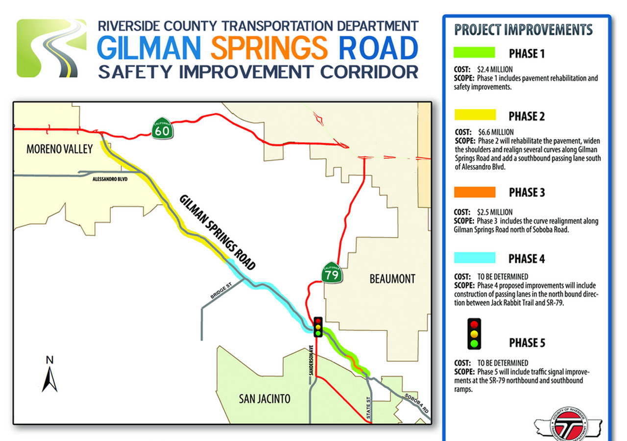 Traffic Alert: Gilman Springs Road to be Shut Down for