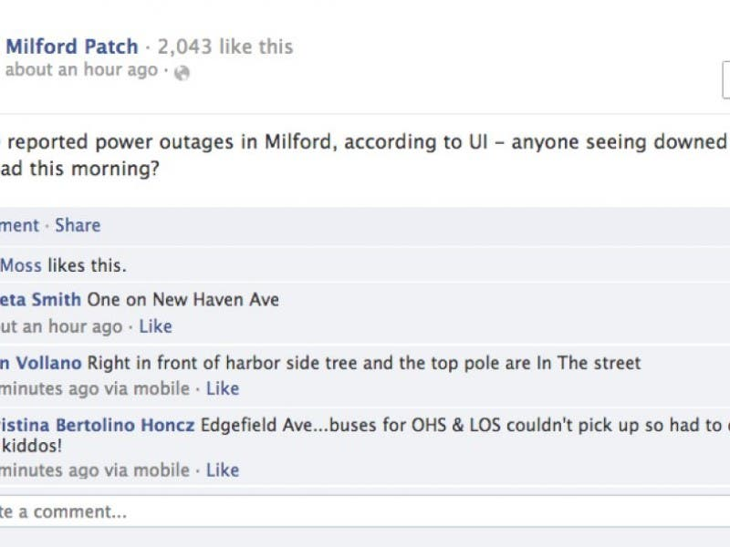 Ct Power Outage Map Ui.1 600 Milford Residents Still Without Power Milford Ct Patch