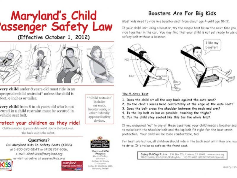 Pampered Mommas Mom2Mom New Child Seat Safety Law In Maryland Takes Effect October 1