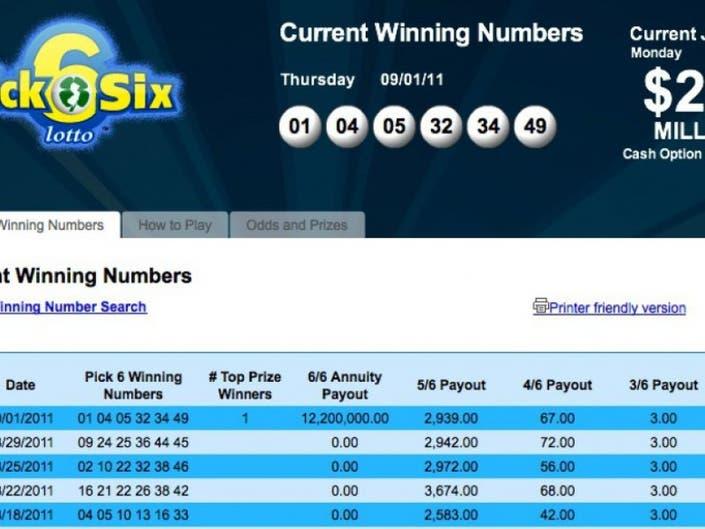 Winning Pick 6 Lottery Ticket Sold in Barnegat | Berkeley, NJ Patch