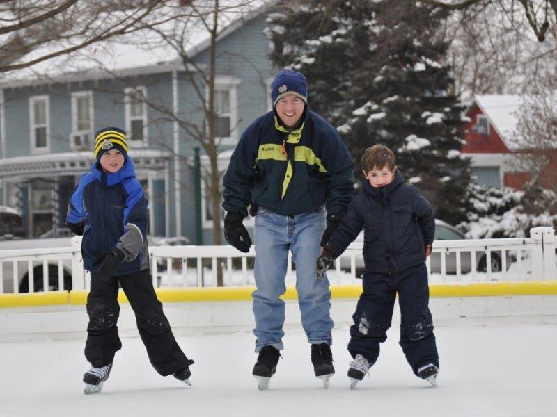 Outdoor Ice Rink Opens In Downtown Dexter Dexter Mi Patch