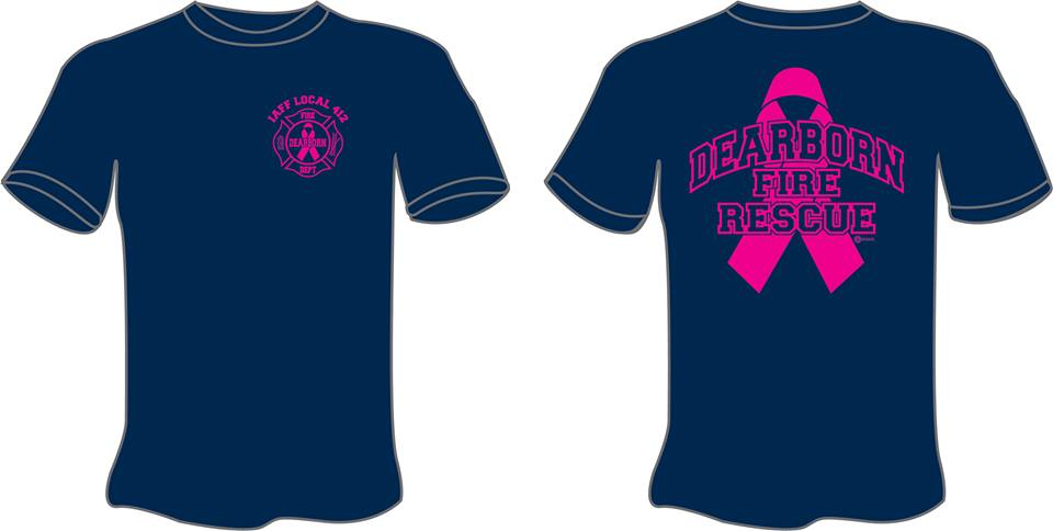 5f144186be7c Dearborn Firefighters Selling Shirts for Breast Cancer Awareness ...