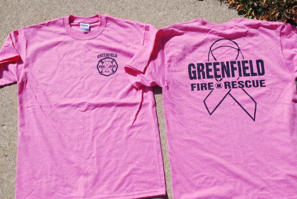 84cfcab795e9 Greenfield Fire Department 'Going Pink' For Breast Cancer Awareness ...