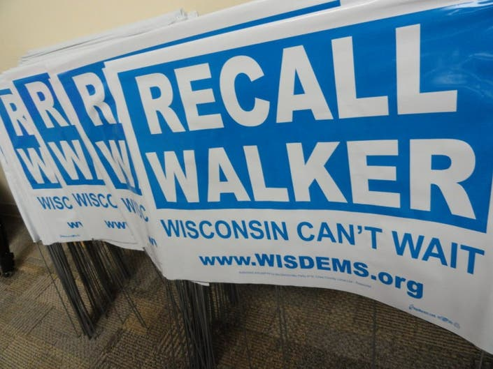 Wisconsin Cant Wait Recall Walker >> Price Tags Of Walker Recall Election Would Be Varied Significant
