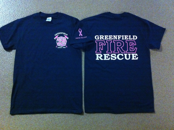bdc5d2a57de2 Fire Department Selling Breast Cancer Awareness T-Shirts This Month ...