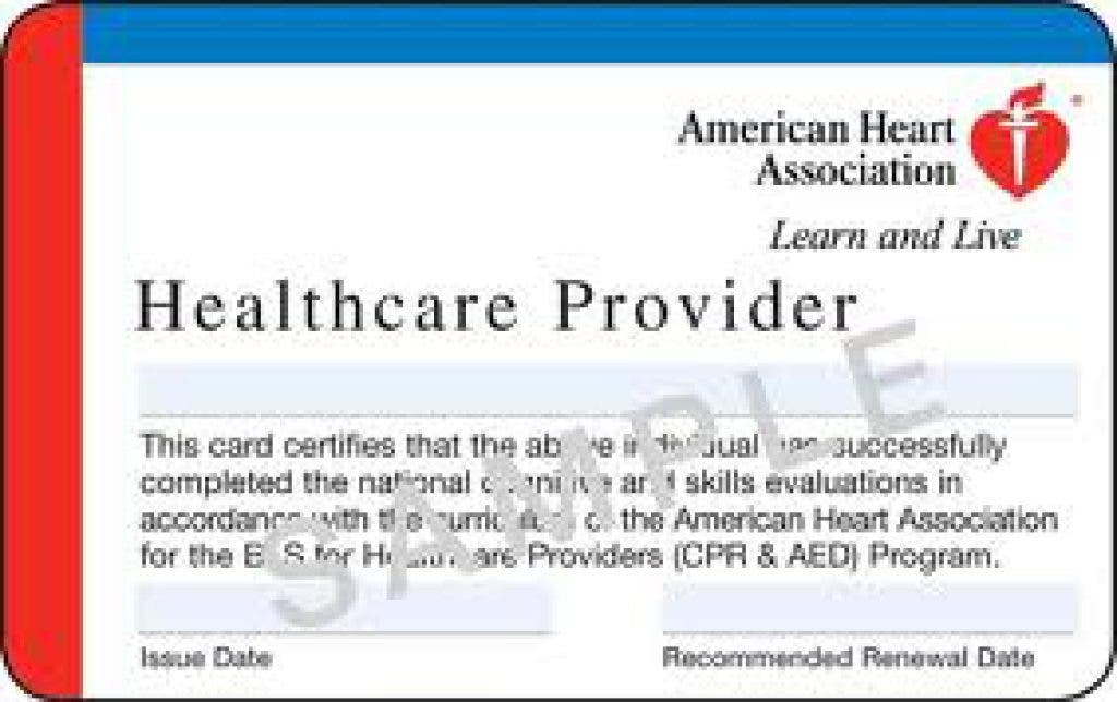 cpr certification aha bls provider card healthcare association heart american classes class acls basic certificate health care renewal support course