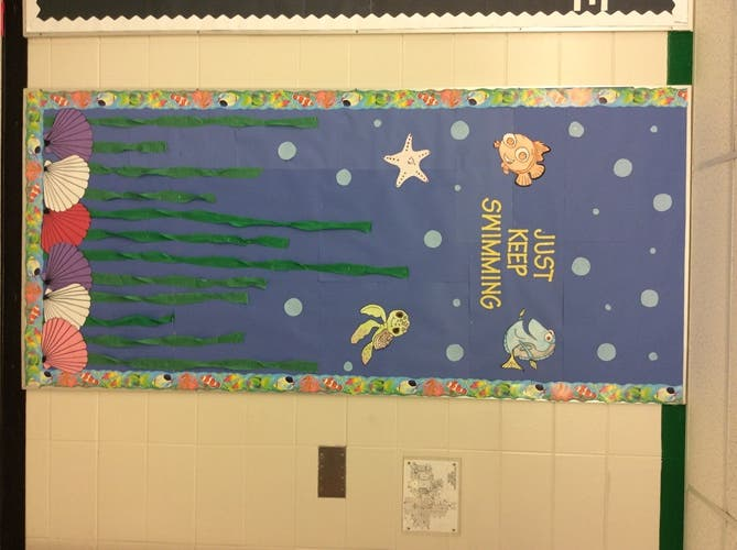 Oak Forest HS Teaching Internship Students Decorate Bulletin ...
