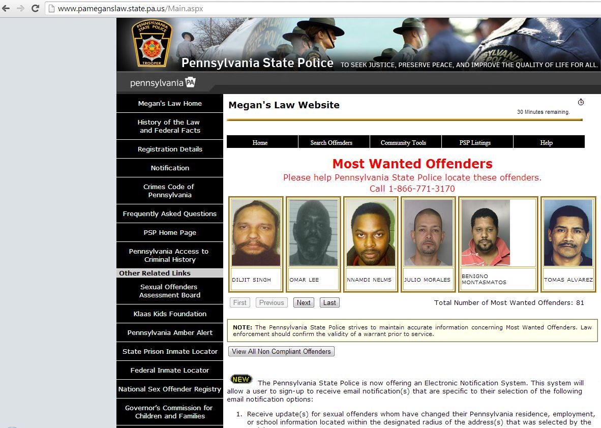 search megans law pa sex offender list in Maitland