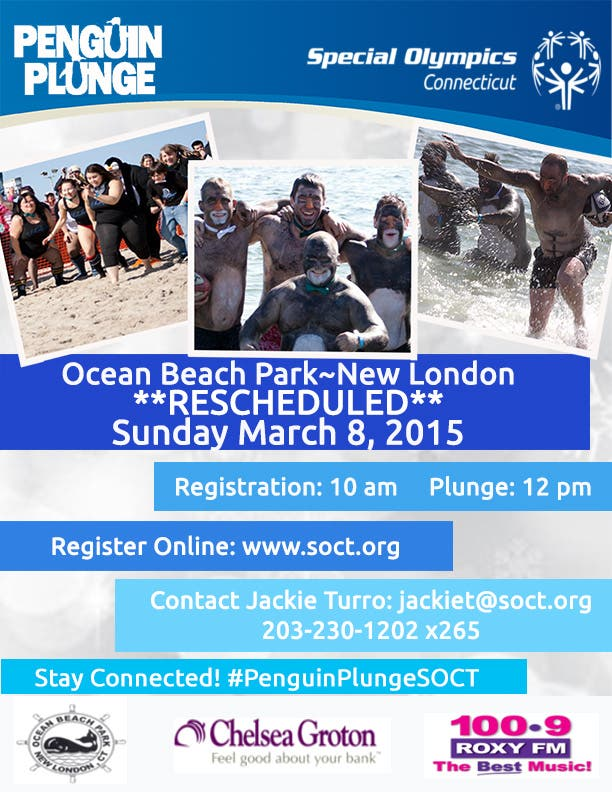 2015 New London Penguin Plunge - RESCHEDULED for March 8